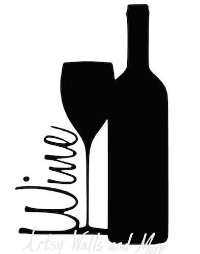 Wine Silhouette at GetDrawings.com.