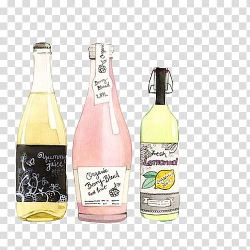 Watercolor painting Printing Drawing Printmaking, Bottle.