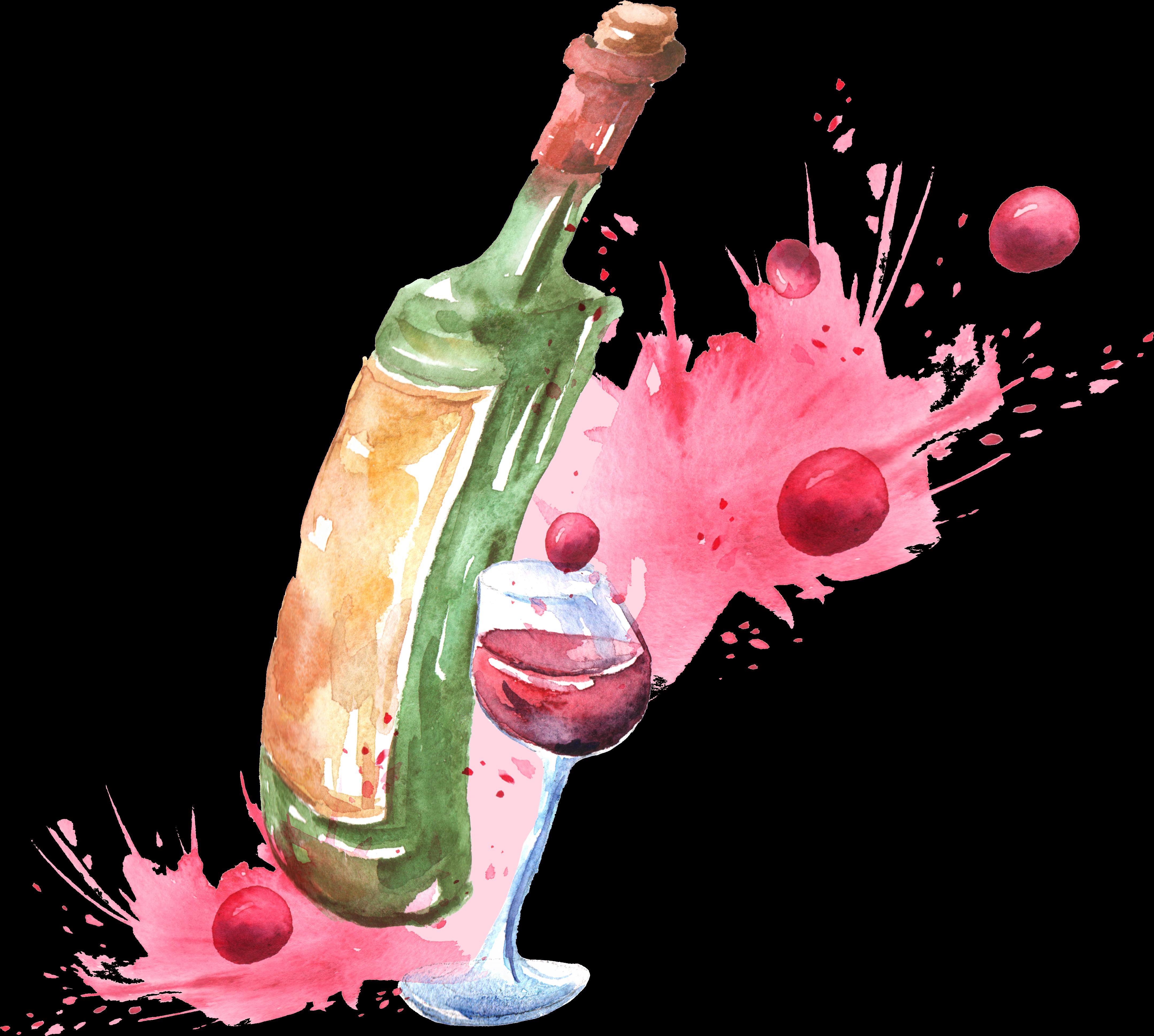 Wine Glass Clipart Watercolor.