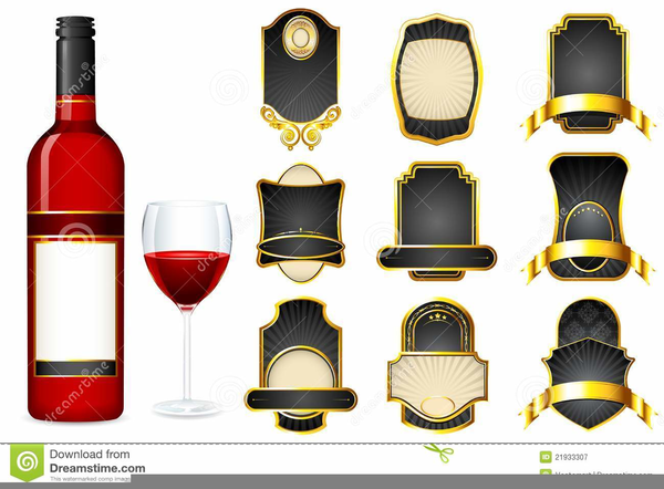 Free Clipart Wine Bottle Labels.