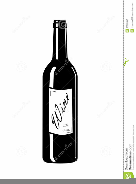Wine Bottle Label Clipart.