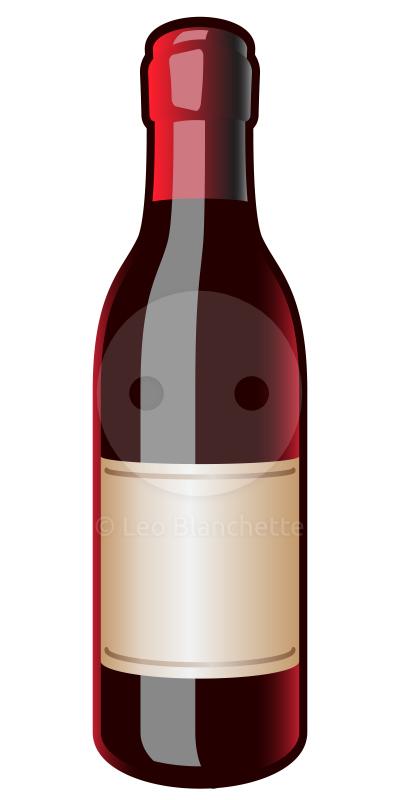Wine bottle label clipart.