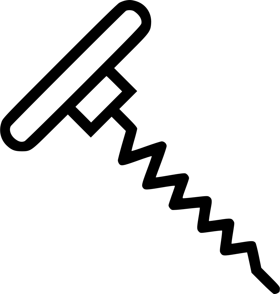 Corkscrew Wine Tool Bottle Opener Svg Png Icon Free Download.