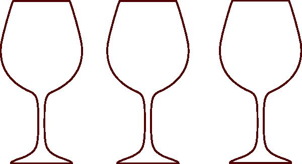 Champagne Bottle Outline.