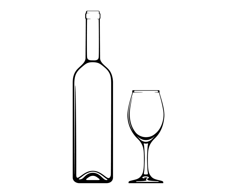 Wine bottle outline clipart 6 » Clipart Portal.
