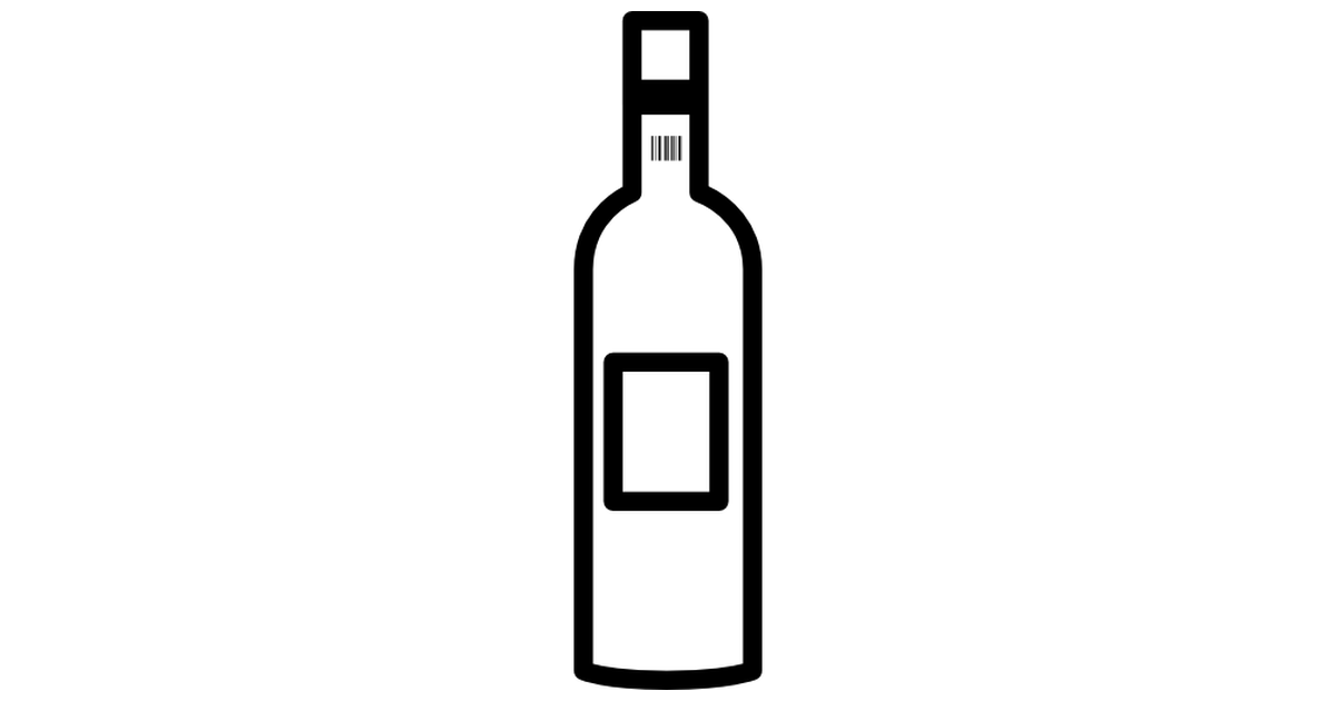 Wine bottle outline.