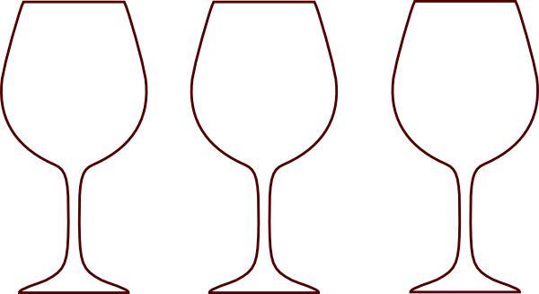 Wine glass wine bottle outline clipart kid.