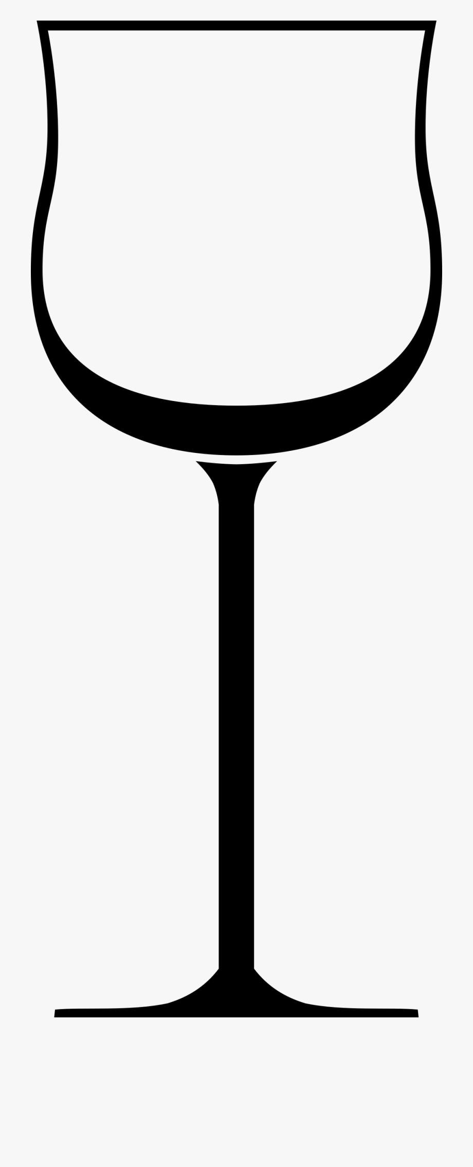 Wine Glass Wine Bottle Outline.
