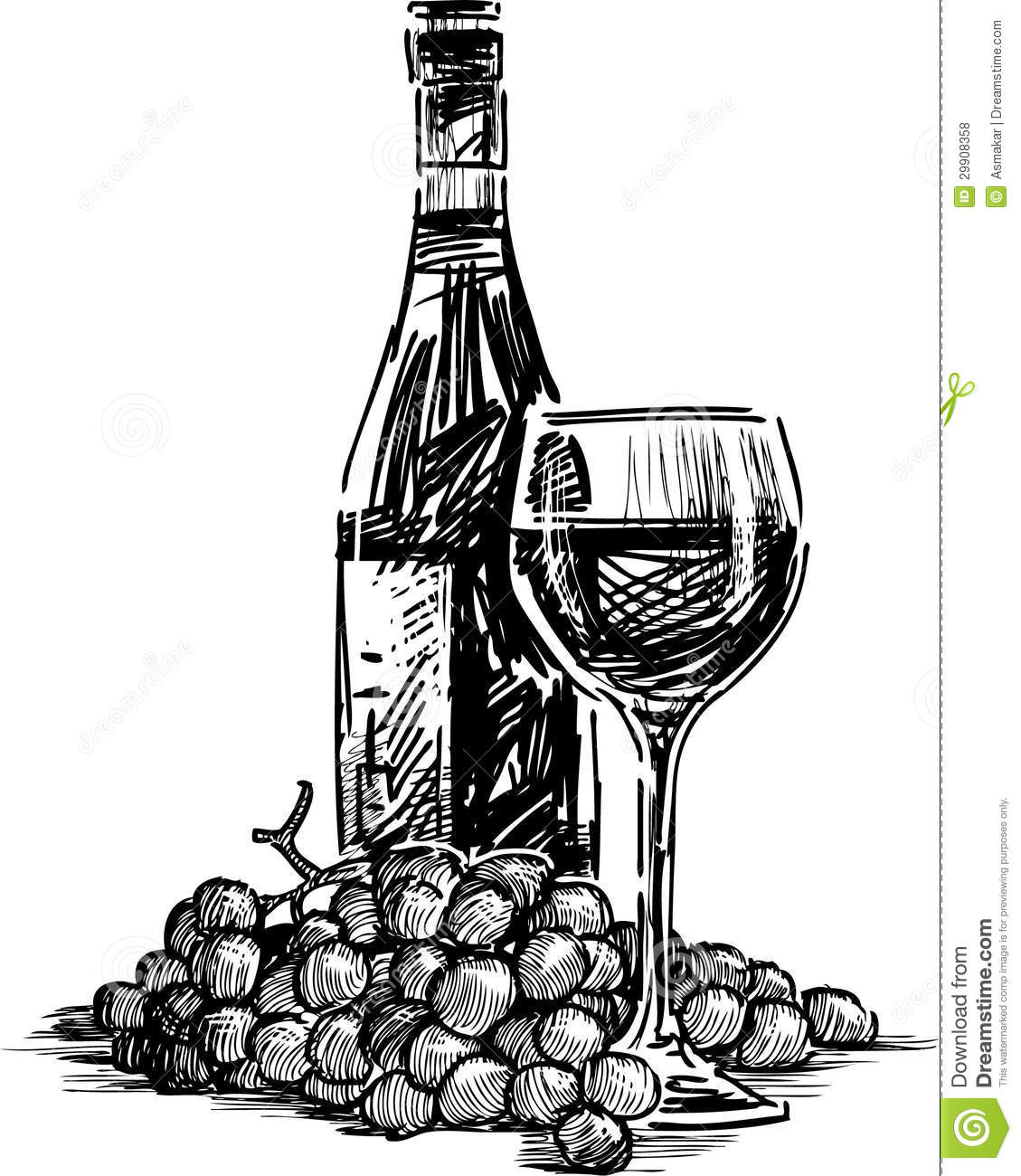 6035 Wine free clipart.