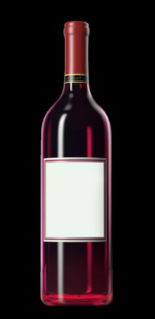 Wine Bottle PNG Transparent Image.
