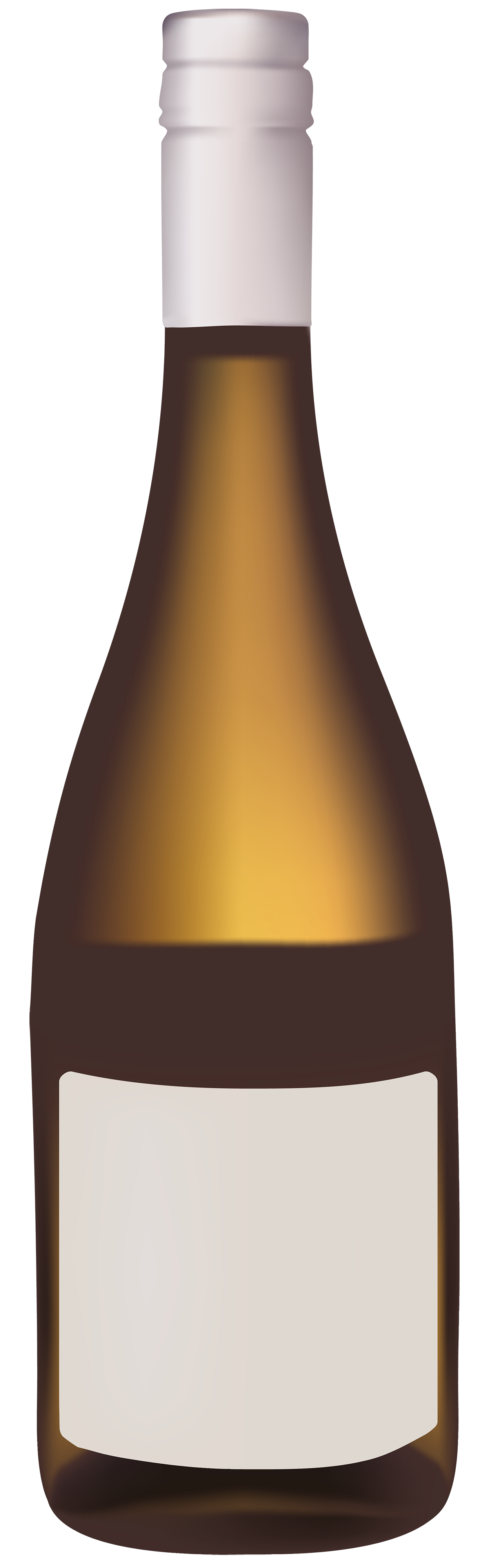 Gold Wine Bottle PNG Clipart.