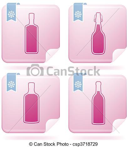 EPS Vectors of Alcohol bottles.