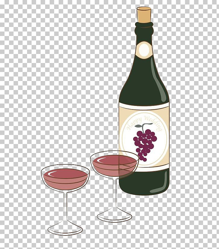 Red Wine Bottle Alcoholic beverage, Simple hand.