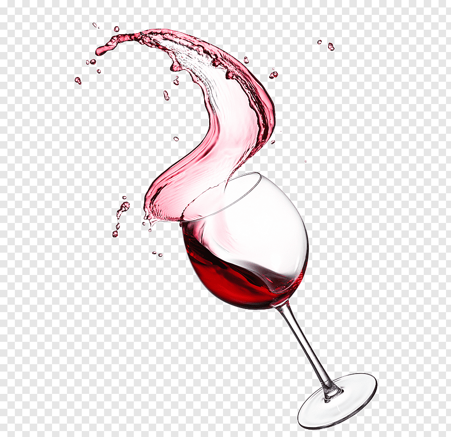 Red wine in glass goblet illustration, Red Wine Beaujolais.