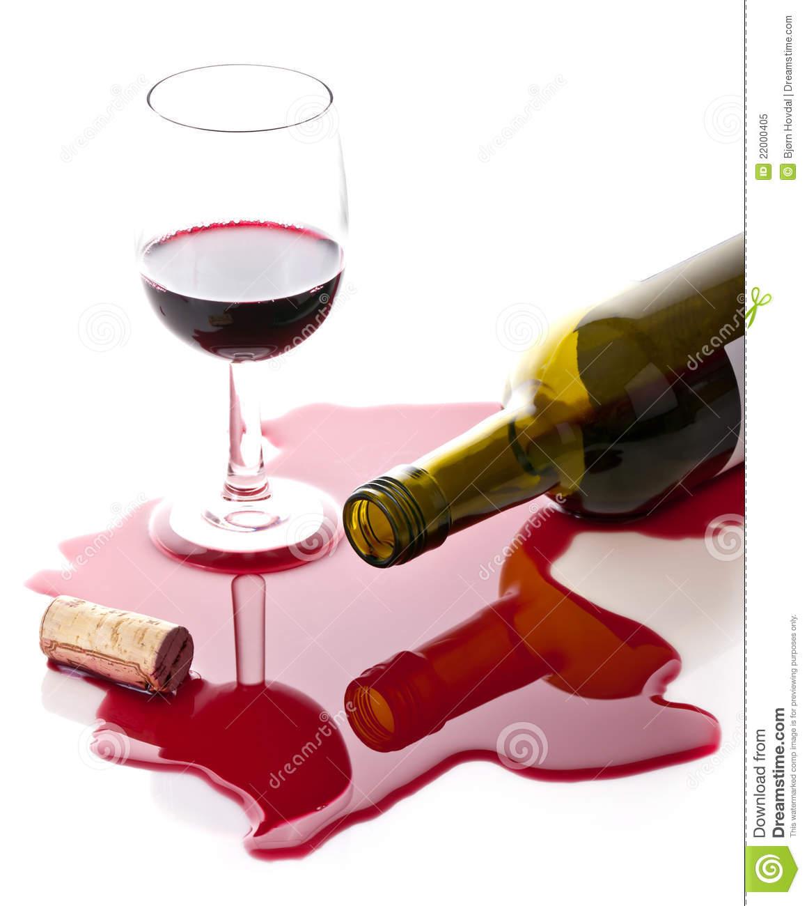 Wine Glass Spill Clipart.