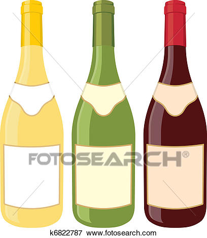 Wine bottles Clip Art.