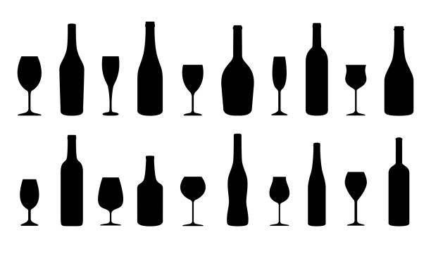 Best Wine Bottle Illustrations, Royalty.