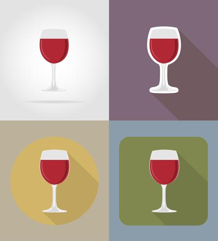 wine glass objects and equipment for the food vector.