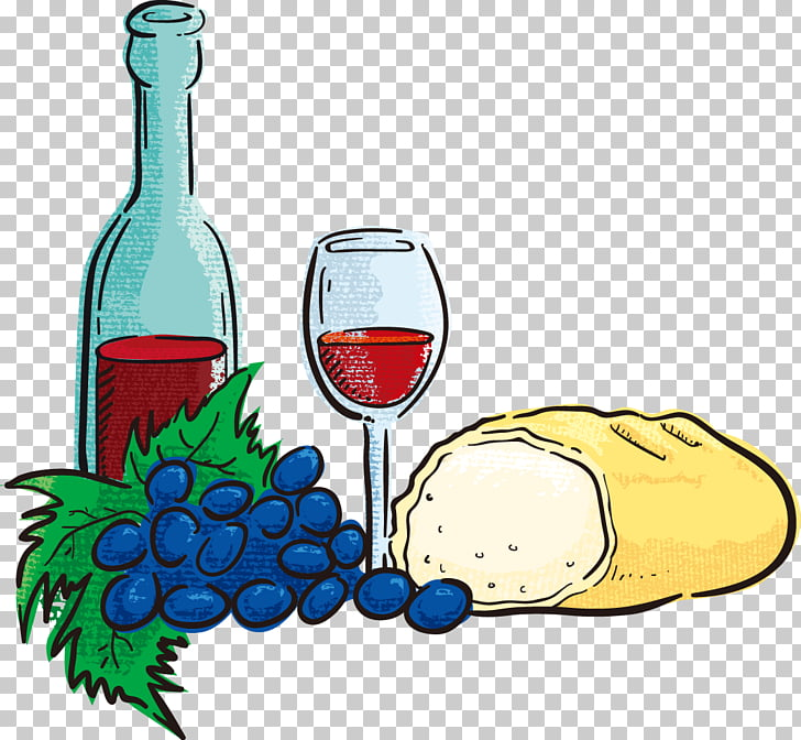Wine glass Hospitality Food , Cartoon painted wine PNG.