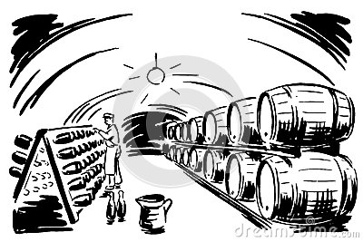 Wine Barrels Black White Stock Photos, Images, & Pictures.