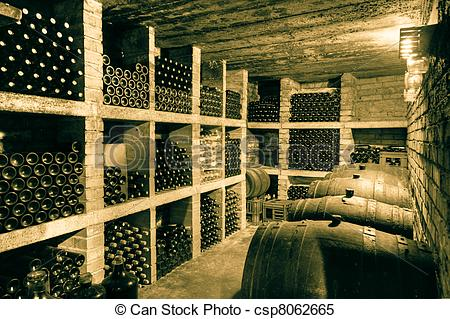 Stock Images of wine cellar.