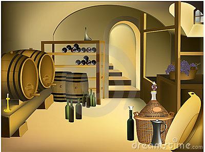 Wine cellar clipart.