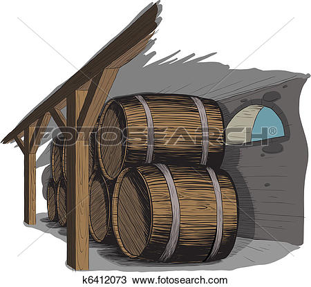 Clipart of old wine cellar k25152594.
