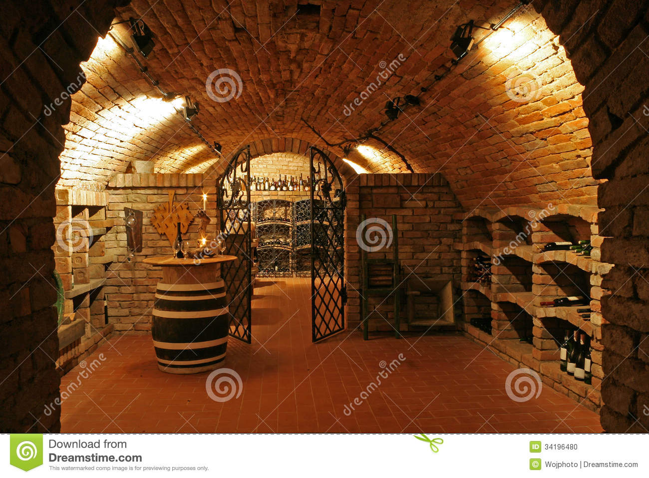 Wine Cellar Royalty Free Stock Image.