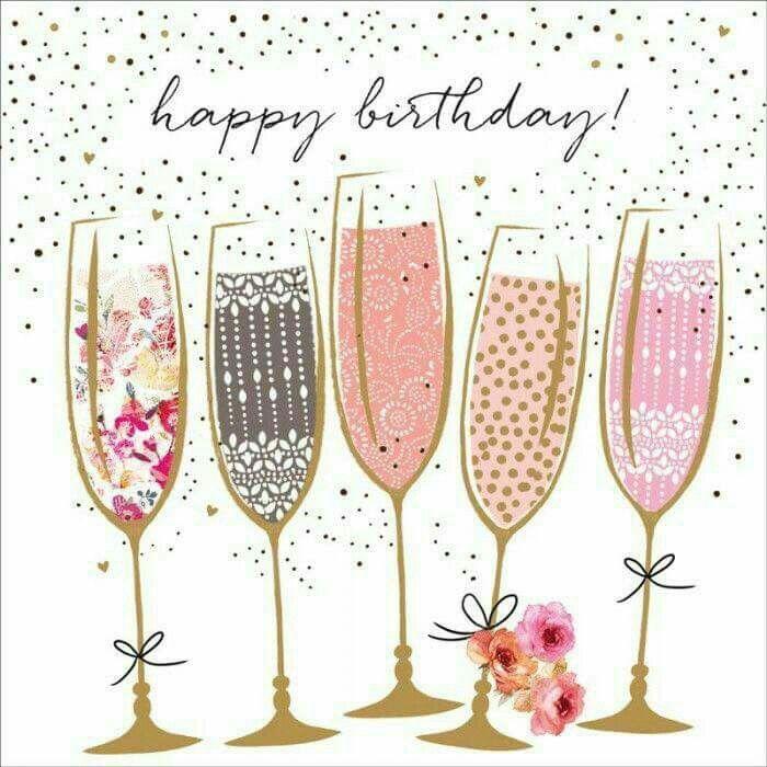 Happy Birthday Champagne Clipart.