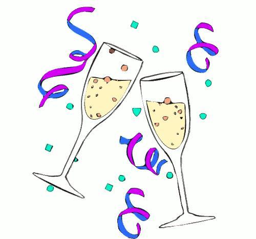 Happy Birthday Clipart With Wine.