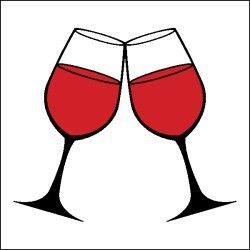 Wine Glass Clipart #cheers #cRed #BandW.