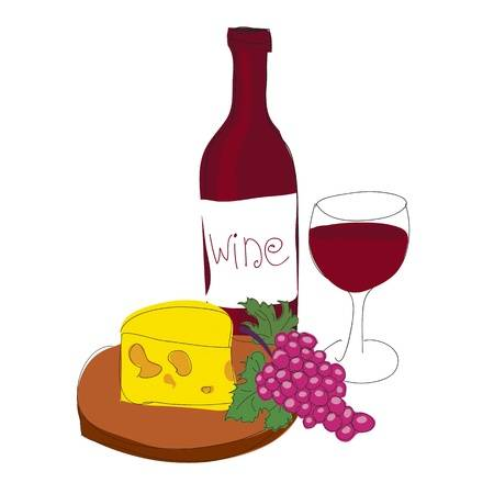7,202 Wine And Cheese Stock Illustrations, Cliparts And Royalty Free.