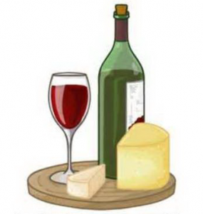 Wine and cheese clipart » Clipart Station.