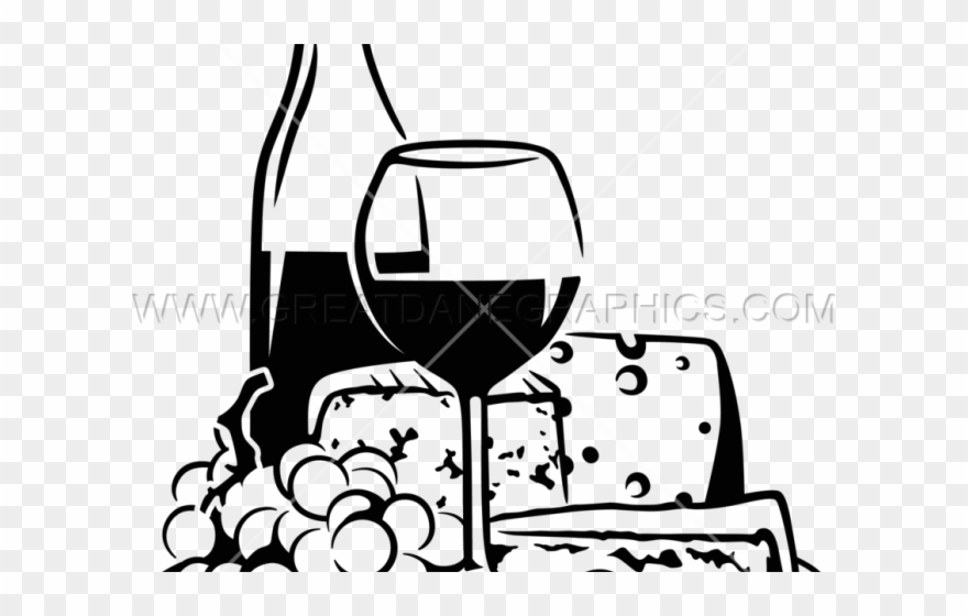 Drawn Cheese Wine Grape Clipart (#3023189).