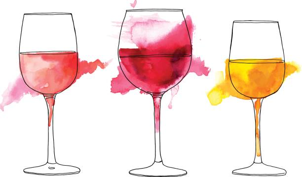 Best Red Wine Illustrations, Royalty.