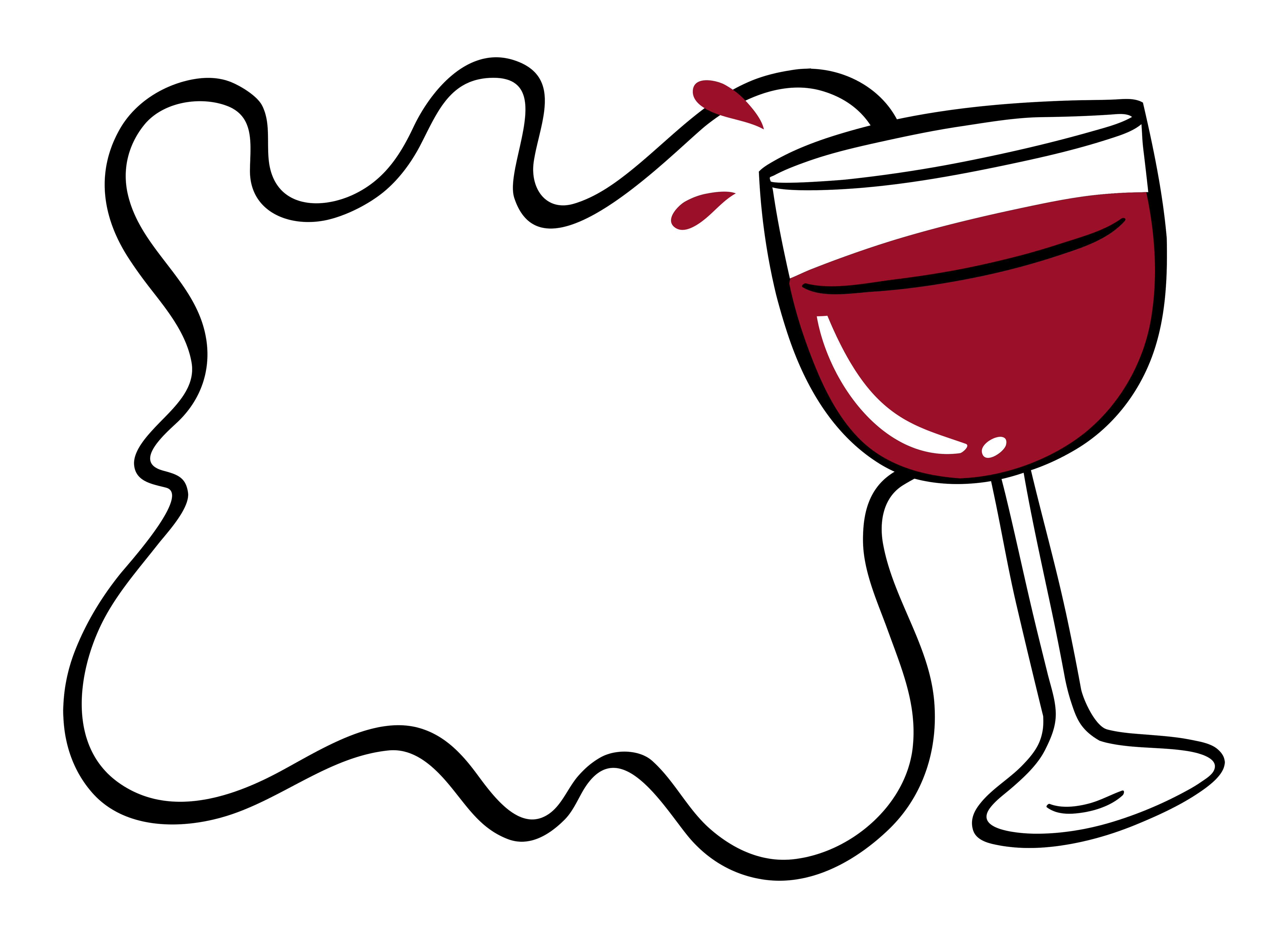 Wine Border Free Vector Art.
