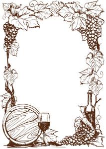 wine border template.
