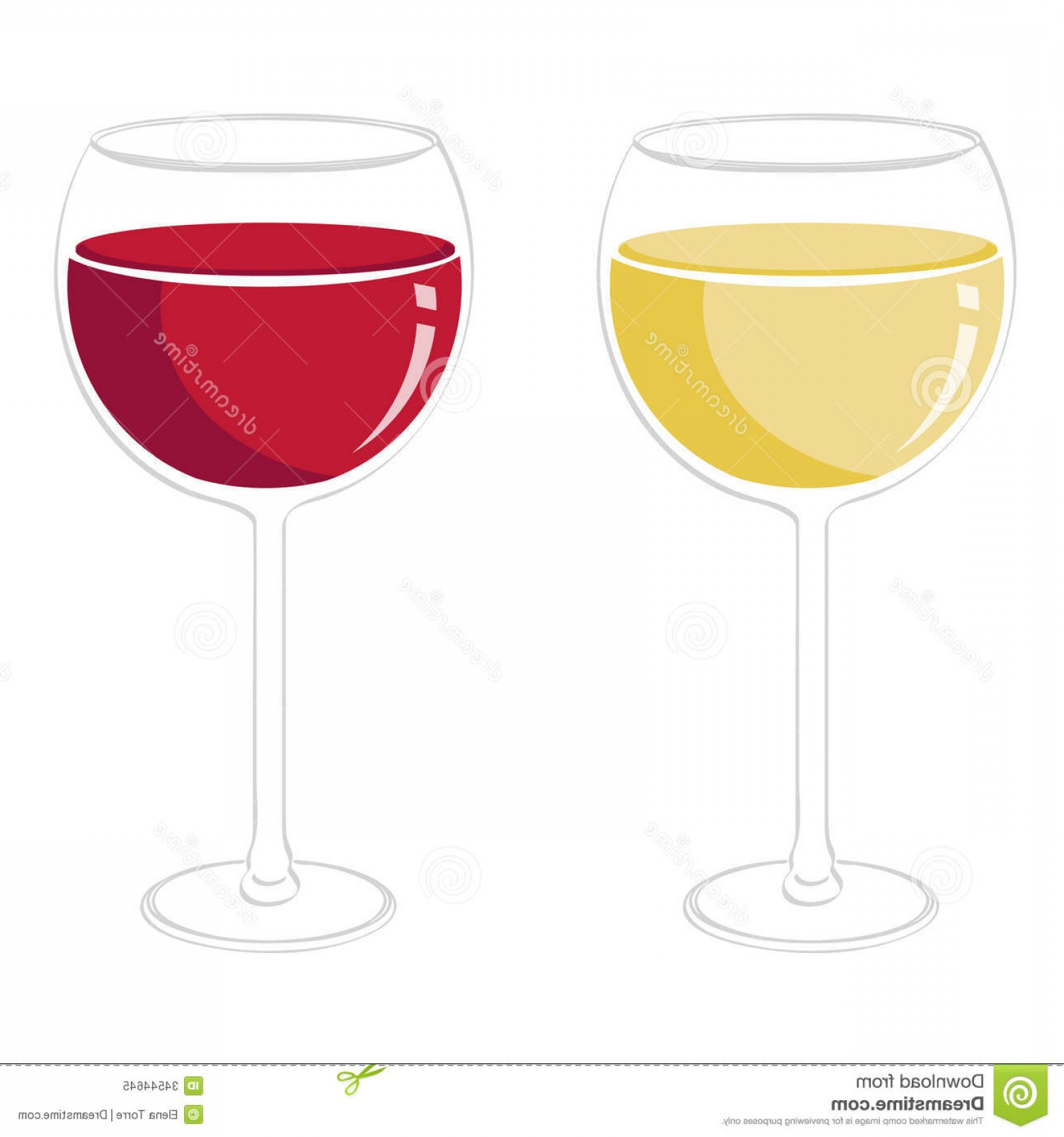 Royalty Free Stock Photo Wine Glasses Illustration Red White.