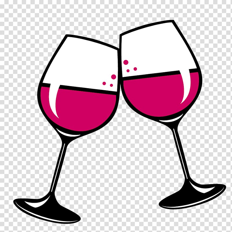 Toast of two wine glasses , Wine glass Red Wine White wine.