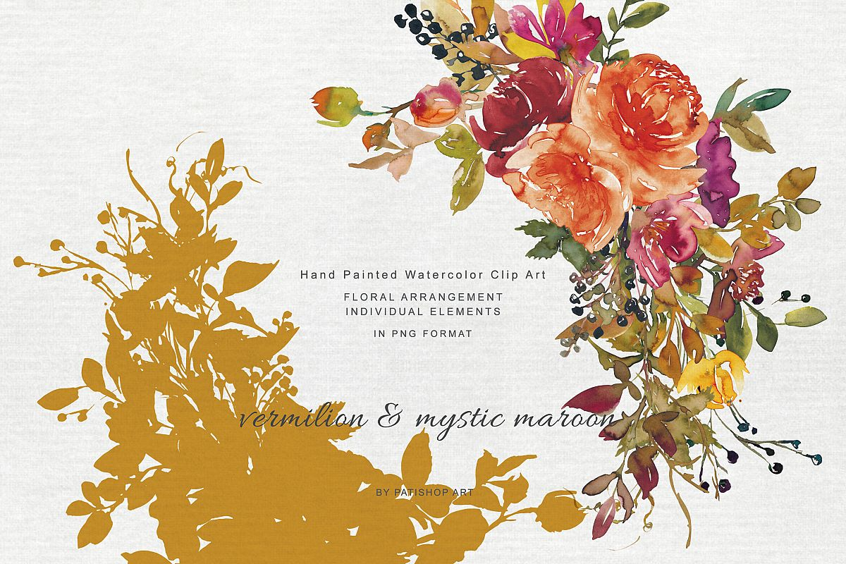 Autumn Colors Flowers Clipart Wine Sweet Brown Mystic Maroon.