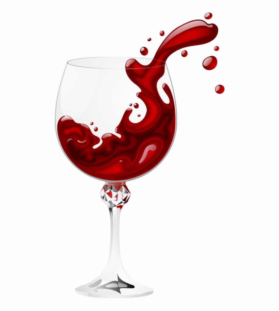 Mq Red Vine Glass Splash Transparent Background Wine.