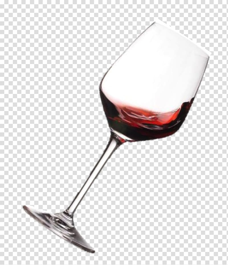 Red Wine Champagne Wine glass, spill out transparent.