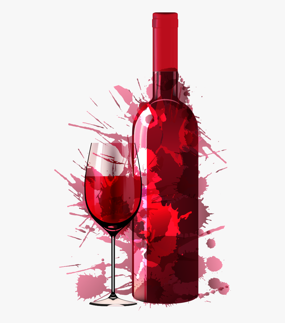 Drink Creative Dinner Vector Party Painting Red Clipart.