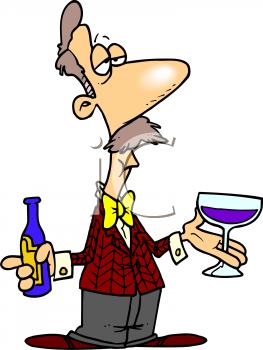 Wine drinking clipart.