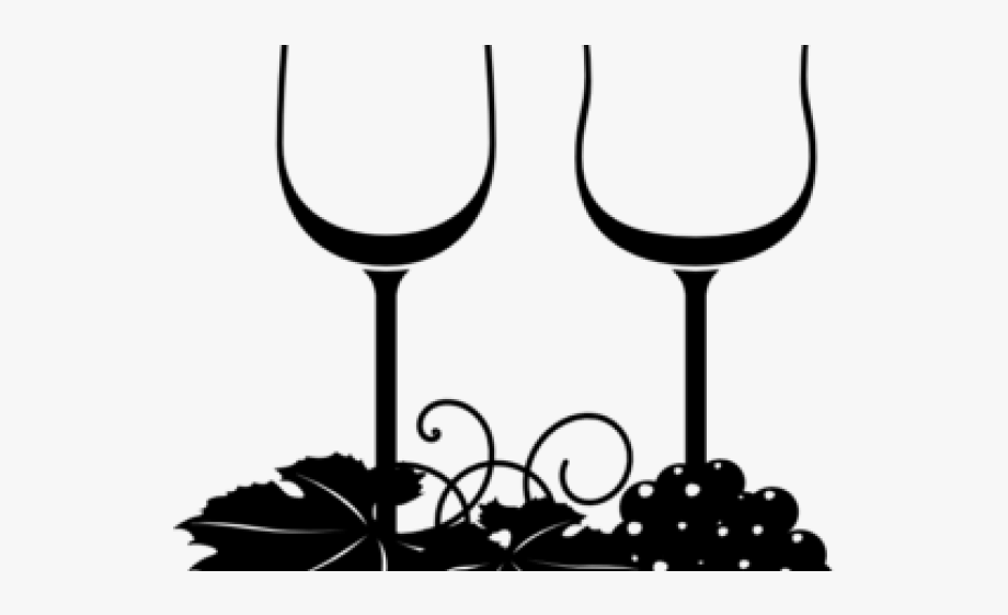 Wine Glasses Grapes Clipart , Transparent Cartoon, Free.