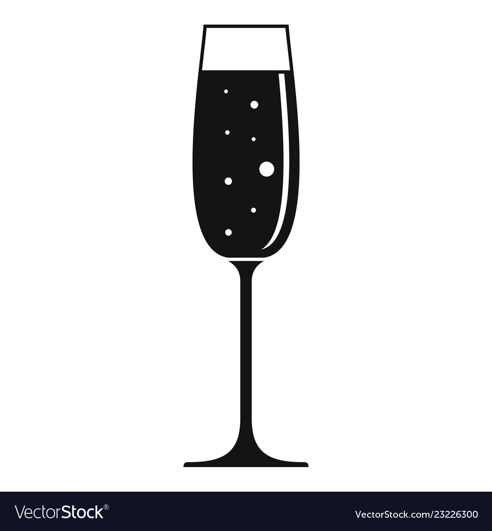 Bar champagne glass icon simple style.