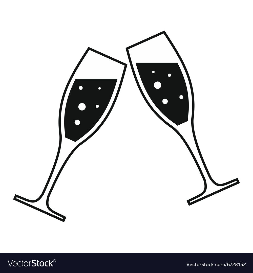 Two glasses simple icon.