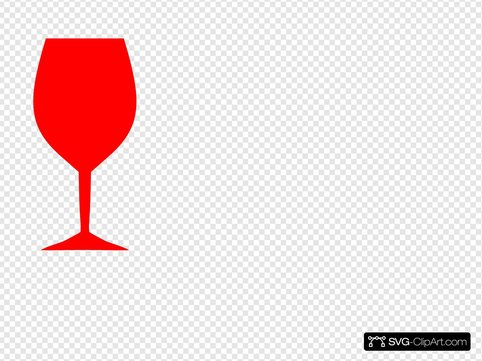 Red Wine Glass Clip art, Icon and SVG.