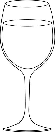 Wine Glass Clipart.