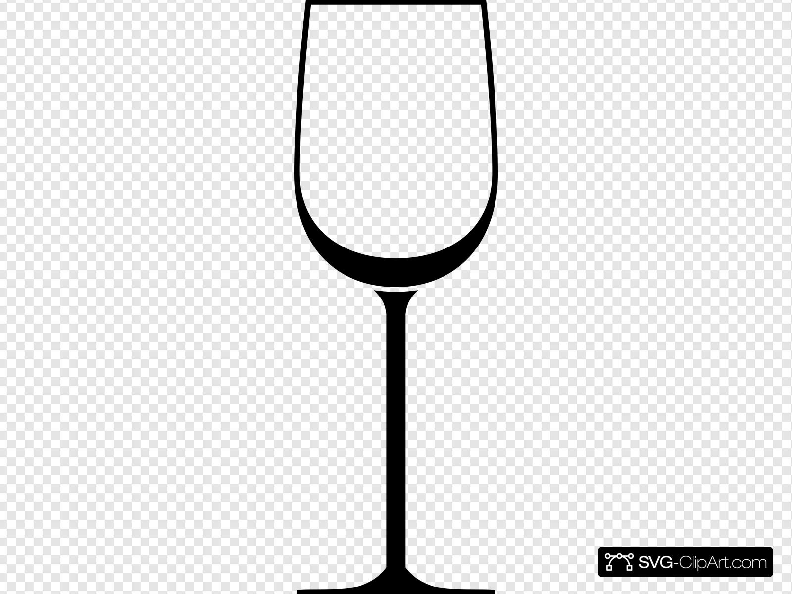 White Wine Glass Clip art, Icon and SVG.